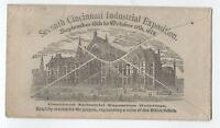 1879 Cincinnati Industrial Exposition allover reverse ad cover 1ct bn [4708]