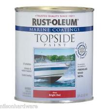 1 Qt Brilliant Red RustOleum Marine Boat Topside Above Waterline Paint 207004
