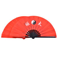 Chinese Bamboo Silk Tai Chi Fan Martial Arts Kung Fu Fan Fighting Hand Fan SA