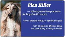 New listing Flea Killer Dog Medication 30-89 lbs.~ 12 Blue Capsules ~ Generic Capstar 60 mg