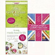 Madhur Jaffrey's Curry Nation Collection Slow Cooker Diet Recipe 3 Books Set New