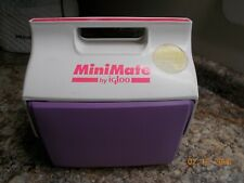 Igloo MiniMate Lunch Cooler, Lavender and White, Side Button Opener