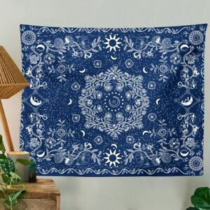 Celestial Floral Wall Carpets Moon Phase Tapestry Tapestry Wall Hanging