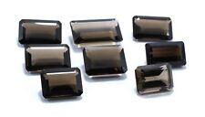 139 Ct Natural Smoky Quartz Gemstone 20X12 To 25 X15 mm Emerald Cut Lot S833