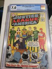 JUSTICE LEAGUE OF AMERICA # 8 CGC 7.0 KEY DC COMIC BOOK -LIKE CBCS,PGX