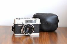 KONICA C35 Automatic 35mm Rangefinder Camera  w/ Leather case  * Great Condition
