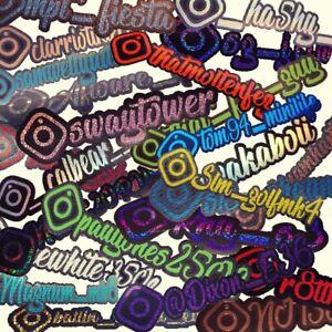 ~Instagram Vinyl Sticker x 2 ~ Your Name ~ Various Colours ~ UK  Stock ~