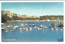 WALES - The HARBOUR, TENBY  1960 Salmon Postcard