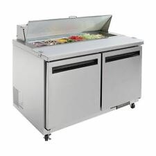 Commercial Polar 2 Door Preparation Counter 405Ltr Hinged 300W 2.5A