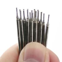 20Pcs 0.8mm Lapidary Diamond coated Hole Drill Solid Bits Needle Gems Glass Tile