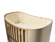 Leander Bumper for Baby Bed Made of Cotton in Vanilla