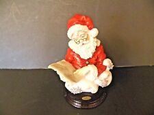 "GIUSEPPE ARMANI SANTA'S TOUR FLORENCE FIGURINE RED SUIT 7.5"" TALL SIGNED"