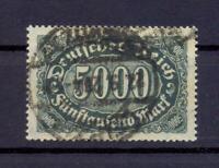 DR 256 d 500 Mark gute Farbe schwarzgrün gestempelt geprüft (qs176)