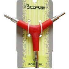 New Red Bike Bicycle Cycling 3 Way (Y Type) Hex Allen Wrench Tool Size 4 5 6mm