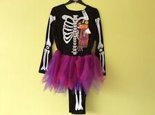 BNWT Halloween Skeleton With Tutu And Trousers Age 9-10