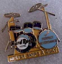 LAS VEGAS HOTEL STAFF AWARD PERFECT ATTENDANCE DRUMS DRUMKIT Hard Rock Cafe PIN