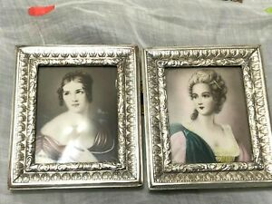 SUPERB PAIR OF HANDPAINTED MINIATURES PORTRAIT