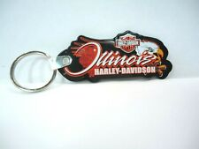 Harley Davidson Motorcycle Illinois Advertising Keychain Keyring