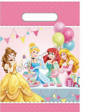 DISNEY PRINCESS PARTY SUPPLIES 10 PCS PLASTIC LOOT LOLLY TREAT BAGS BIRTHDAY VIC