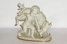 Alte Gräfenthal Figur Putto + Geißbock Porzellanfigur Figure Zicklein Knabe Bock