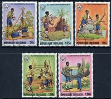 Togo 1982 - 75th Anniversary of Scouts - Complete Set of 5 CTO