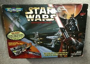 Star wars Death Star Trench Darth Vader Micro Machines Sealed old stock galoob