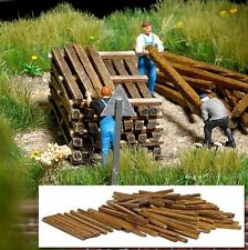 BUSCH HO scale ~ 'NATURAL TIMBERS' ~ 1/87 wooden parts  #1129 suit train set