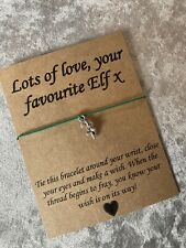 🎄Elf On The Shelf Kids Candy Cane Charm bracelet Gift Present Stocking Gift 🎁