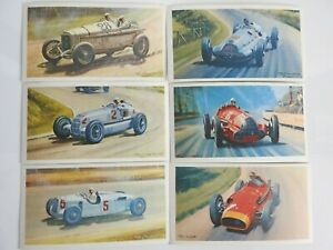 Collectible 1971 Trading - Mobil - The Story Of Grand Prix Motor Racing 6 Cards