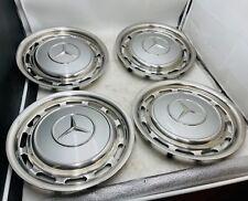 4x Mercedes 14 Zoll Radkappen W123 W109 W110 W111 W113 W114 735 Astral Silber ..