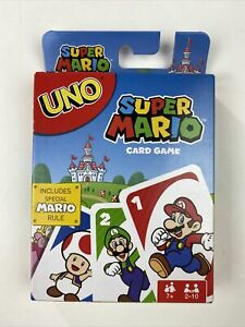 Uno Super Mario Card Game Mattel NIB