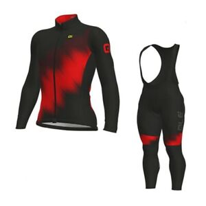 Mens Long Sleeve Cycling Jersey Bib Pants Suit Bicycle Outfit Team Bike Clothing