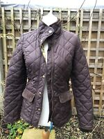 Joules Newdale Quilted Jacket, Women's Size 6, Brown