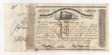Michigan Southern Railroad Company Stock Certificate