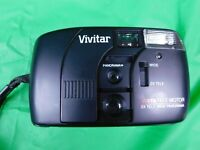 Retro Vivitar TW 35 Point and Shoot 35mm Film Camera Dual 35mm Wide Angle and 80mm Telephoto Lenses