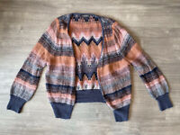 Marks And Spencer Limited Collection Mohair Blend Jumper Size Small Boho