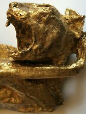 MUMMIFIED CAT taxidermy 24K GOLD oddities VICTORIAN Memento Mori ART BIZARRE @@