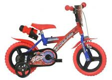 "Dino Spiderman Kids Boys Bike with Stabilisers 12"" Wheel Single Speed 123GL-SA"