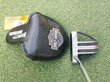 "Harley Davidson Golf Putter Cover, Black Silver by Golf Gear 4 1/4"" wide & deep"
