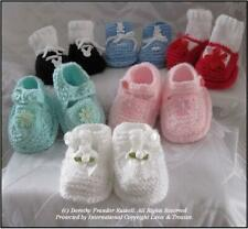 """HAND KNIT PATTERN: """"Happy Feet"""" selection of Baby Shoes/Boots Frandor Formats"""