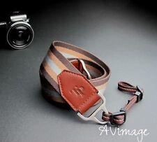 TP Vintage DSLR SLR Evil Camera Neck Shoulder Leather Strap - Light Brown