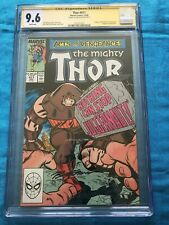 Thor #411 - Marvel - CGC SS 9.6 NM+ Signed by Ron Frenz - 1st New Warriors app