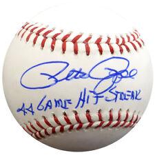 "PETE ROSE AUTOGRAPHED MLB BASEBALL REDS ""44 GAME HIT STREAK"" PSA/DNA 64808"