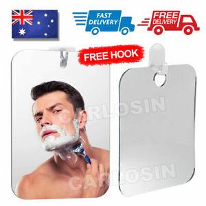 Anti-Fog Fog Free Shower Mirror Fogless Shaving Shave Mirror Bathroom 17X13cm AU
