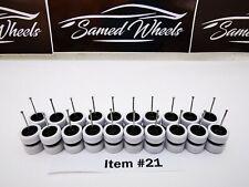 10 set MIX 5 bolt white tyre Samed Wheels premium rubber wheel for HW 1:64 cars