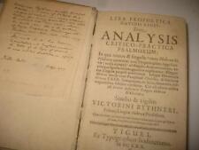 1670 Lyra prophetica Davidis regis by Victorinus Bythner PSALMS TEHILLIM Lexicon