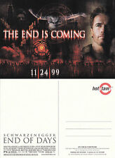 END OF DAYS THE MOVIE UNUSED ADVERTISING COLOUR POSTCARD
