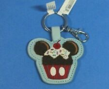 """Disney Parks Mickey Mouse Cupcake with Sprinkles & Cherry Key Chain """"Sweet Treat"""