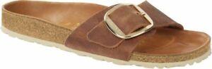 Birkenstock Pantolette Madrid Big Buckle waxy leather cognac Gr. 35 - 43 1006525