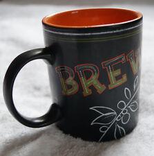 Starbucks Mug 2007 Chalkboard Cafe Latte Halloween Orange Witch Brew Venti 12 oz